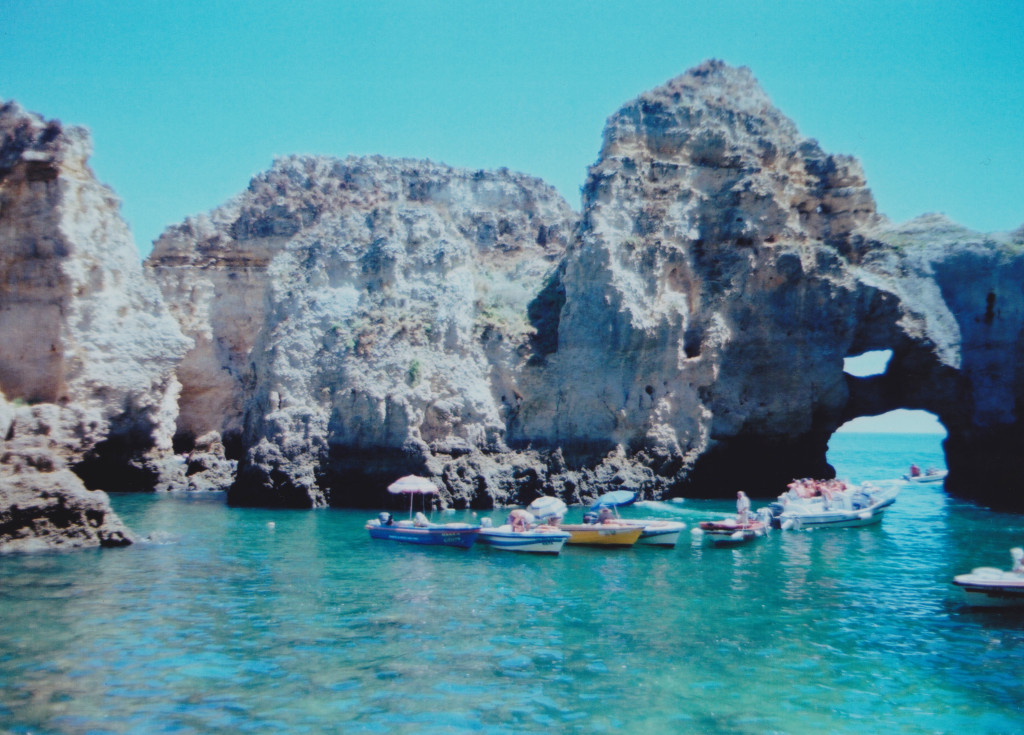 Boats in the grotto