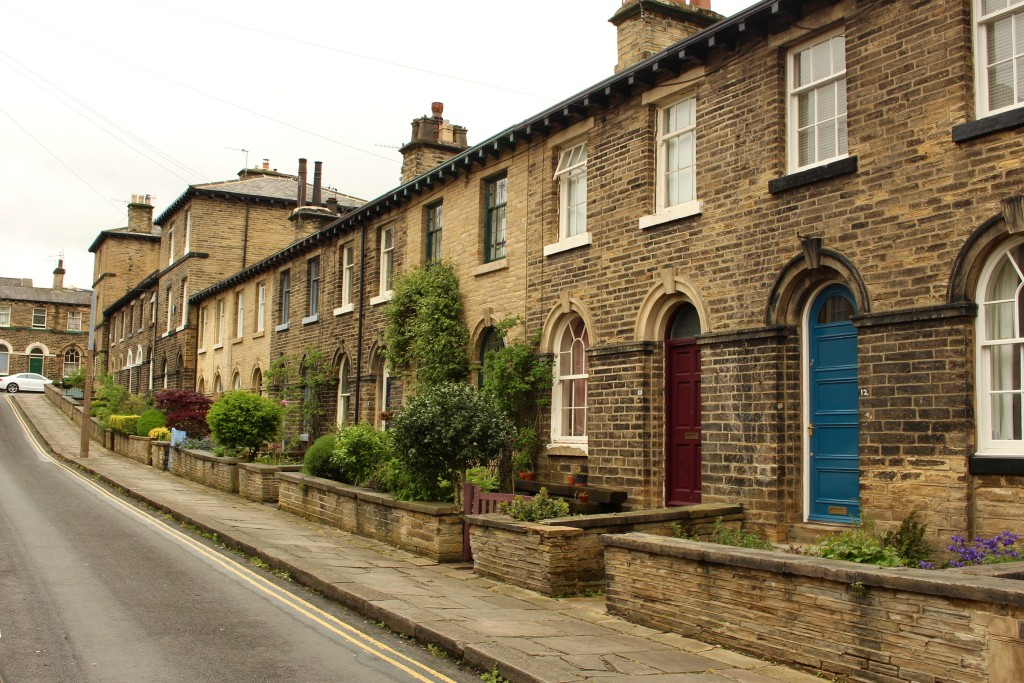 The quaint houses of Saltaire