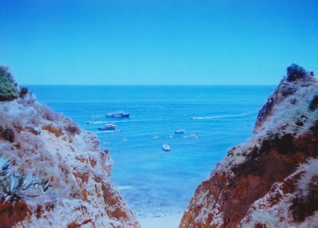 A gap in the cliffs