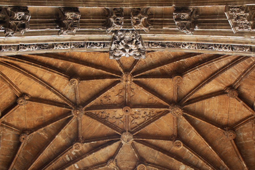 The vaulted roof of the cathedral