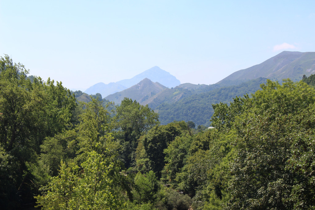The mountains seen from the bridge