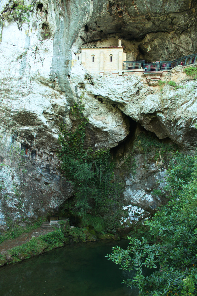 The chapel cave in the cliff