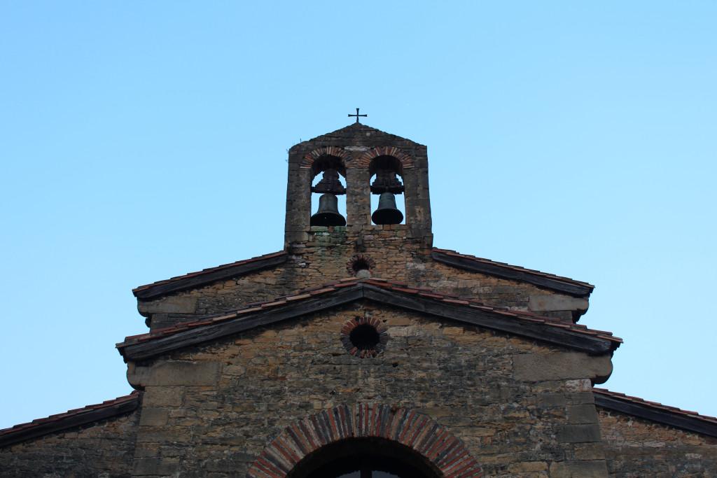 The facade of a seriously old church