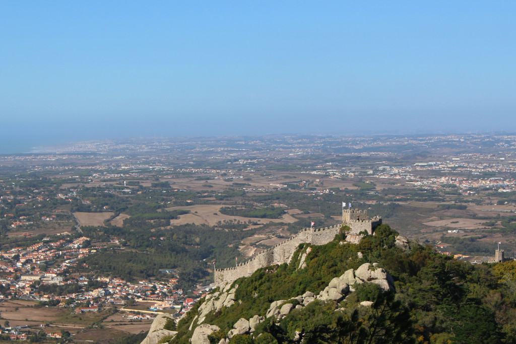 The moorish castle in the distance