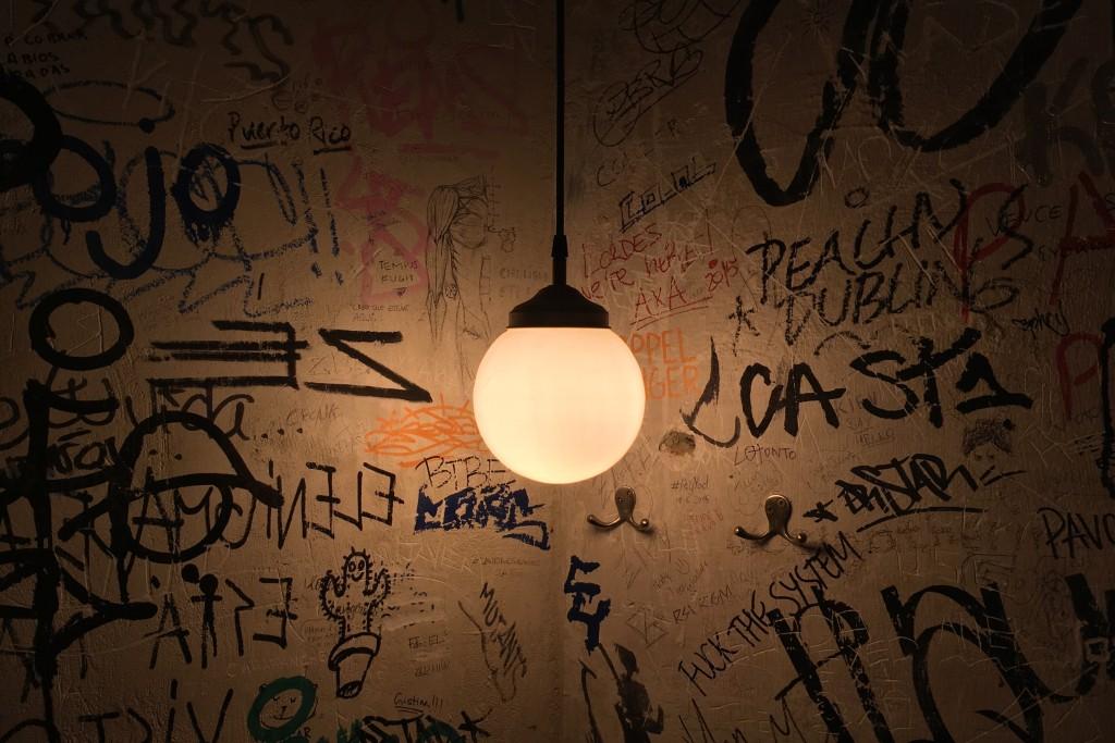 A light in a bar in Malasaña