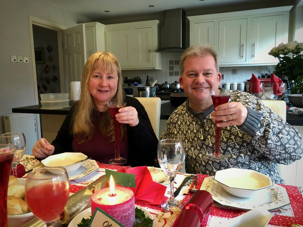 Mum and Dad have a drink