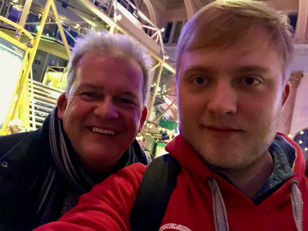 Me and my dad at the Royal Exchange