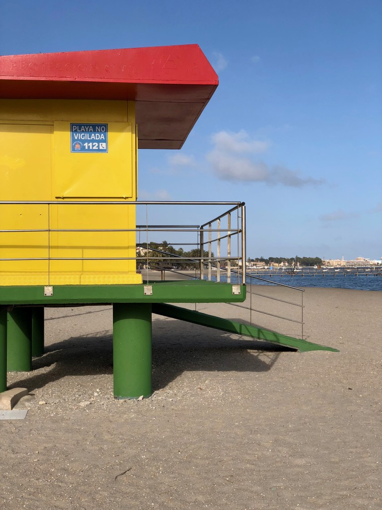 A funky lifeguard station