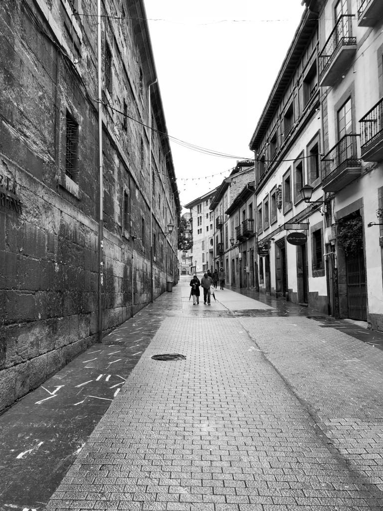 Walking through a cold Oviedo