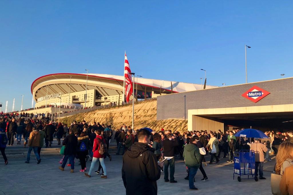 Arriving at the stadium