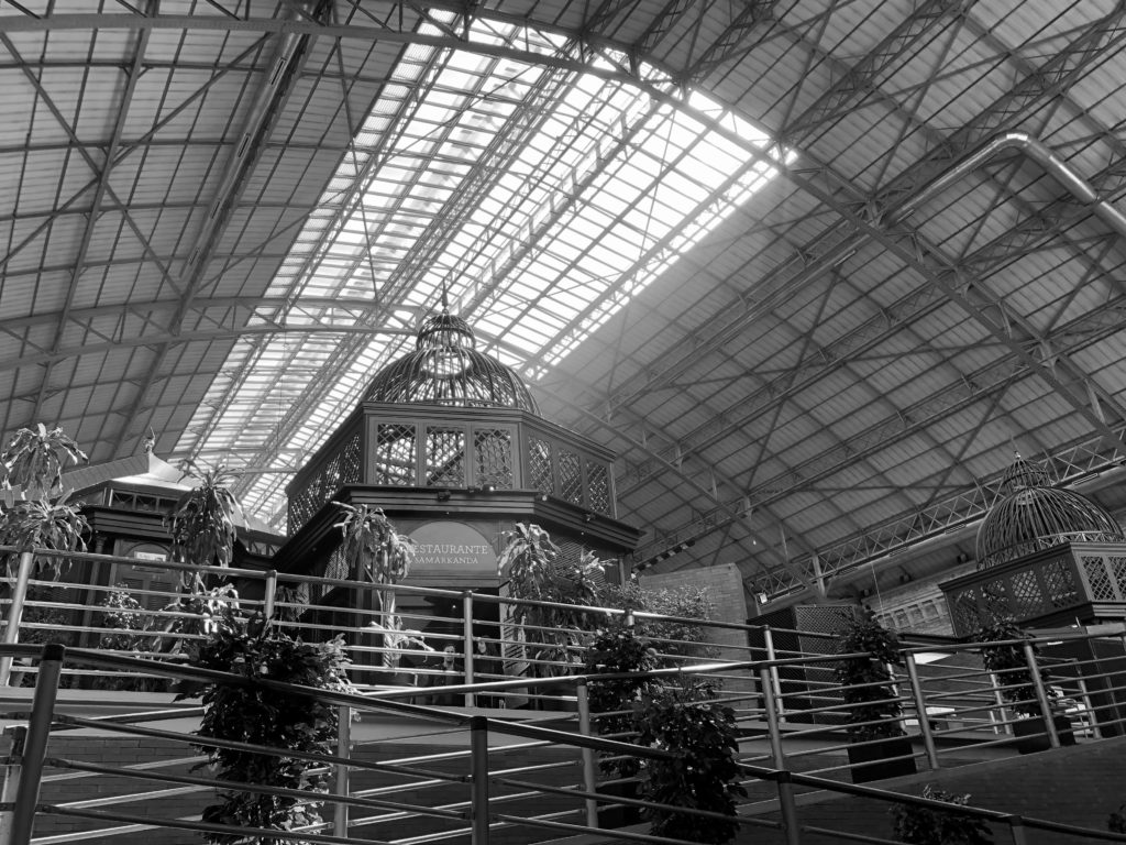 Inside Atocha train station