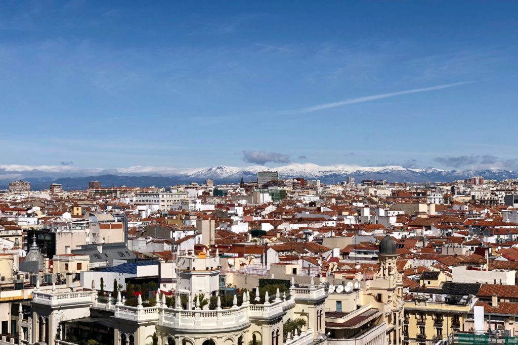 Looking to Madrid's mountains