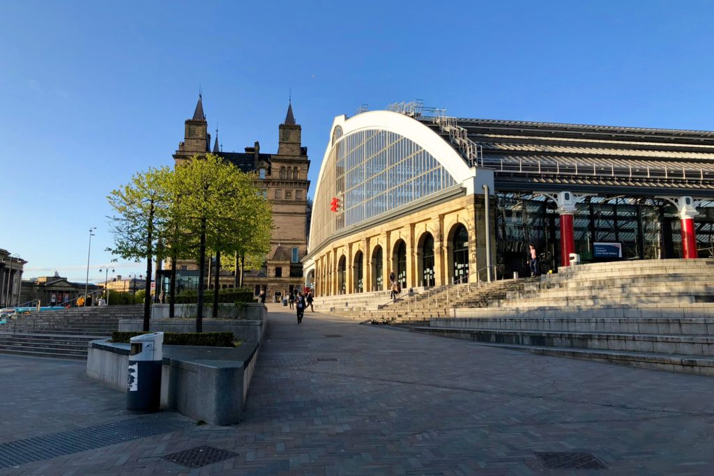 Approaching the train station in Liverpool