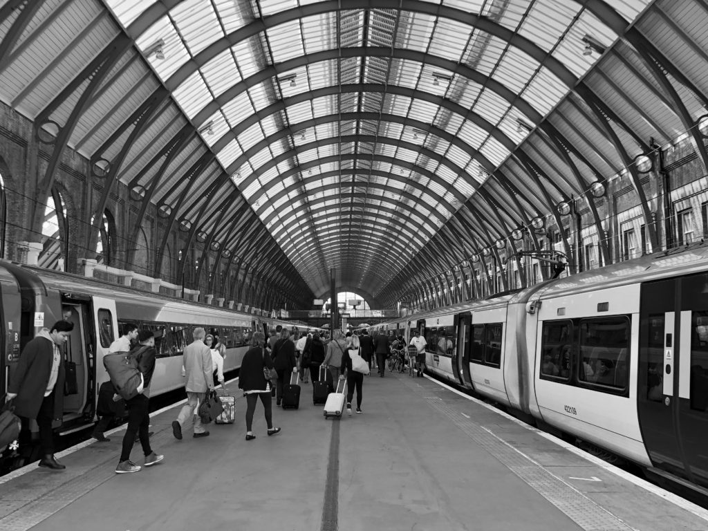Arriving at London King's Cross