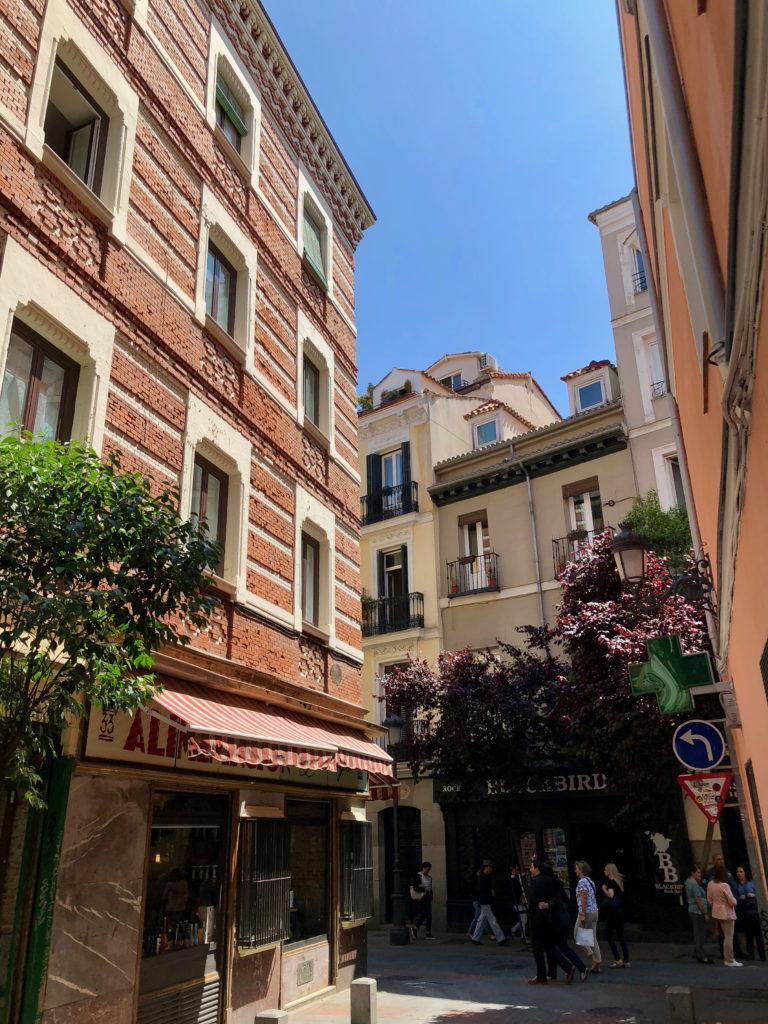 The streets around Barrio de las Letras