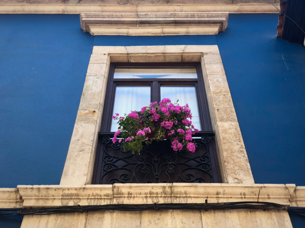 A window in Ribadesella