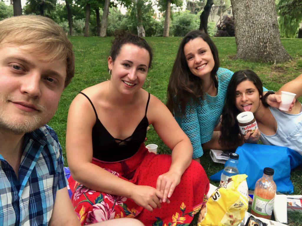 Me, Megan, Heidi and Loredana (who is a big fan of Nutella)