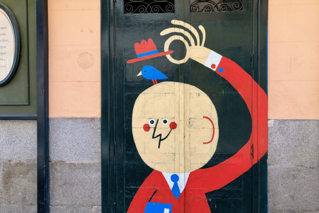 Cool illustrations in the street