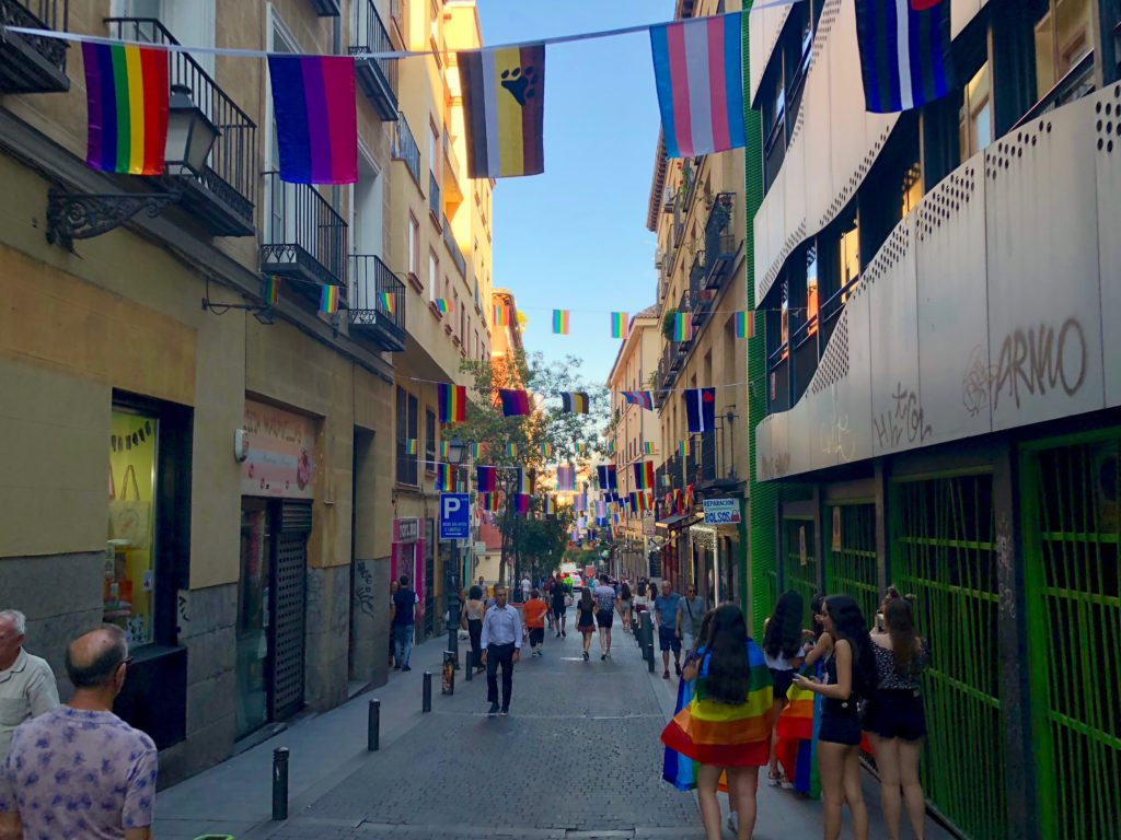 Heading into Chueca in the evening