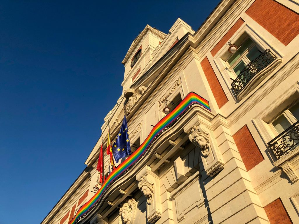 Madrid showing its pride colours