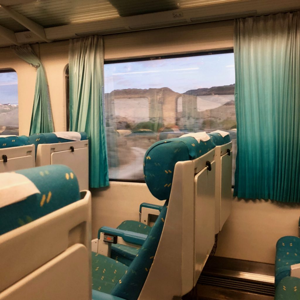 Arriving in Murcia on the train