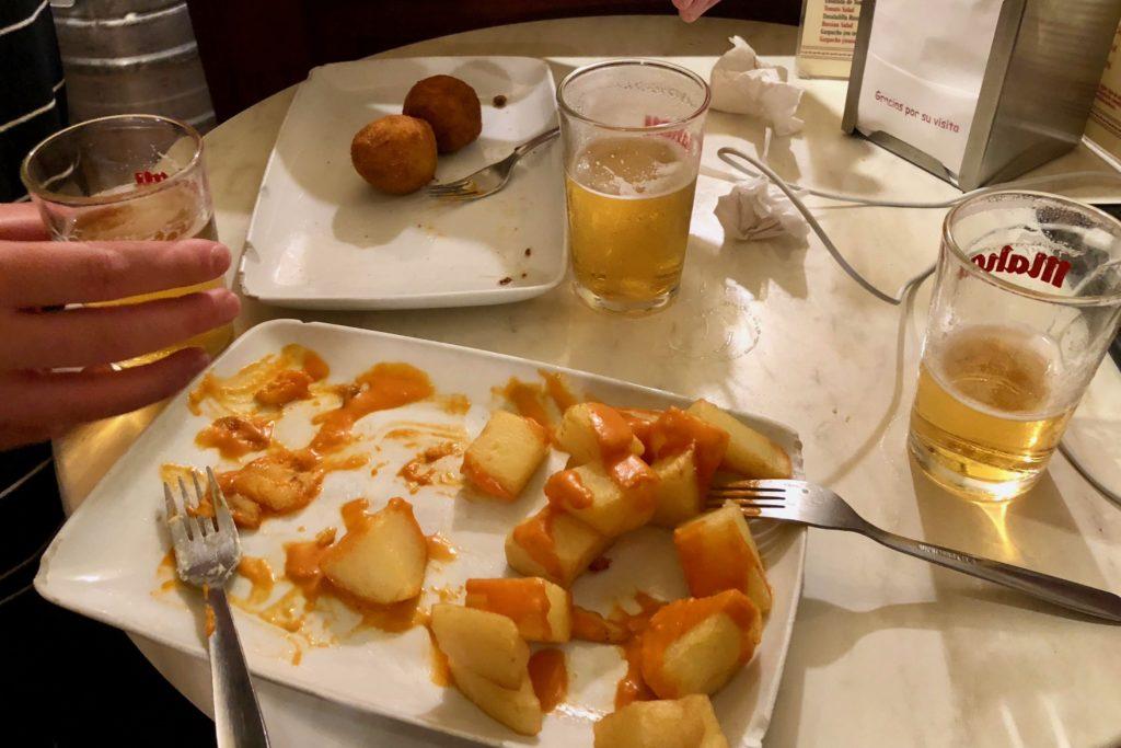 Croquetas and patatas bravas