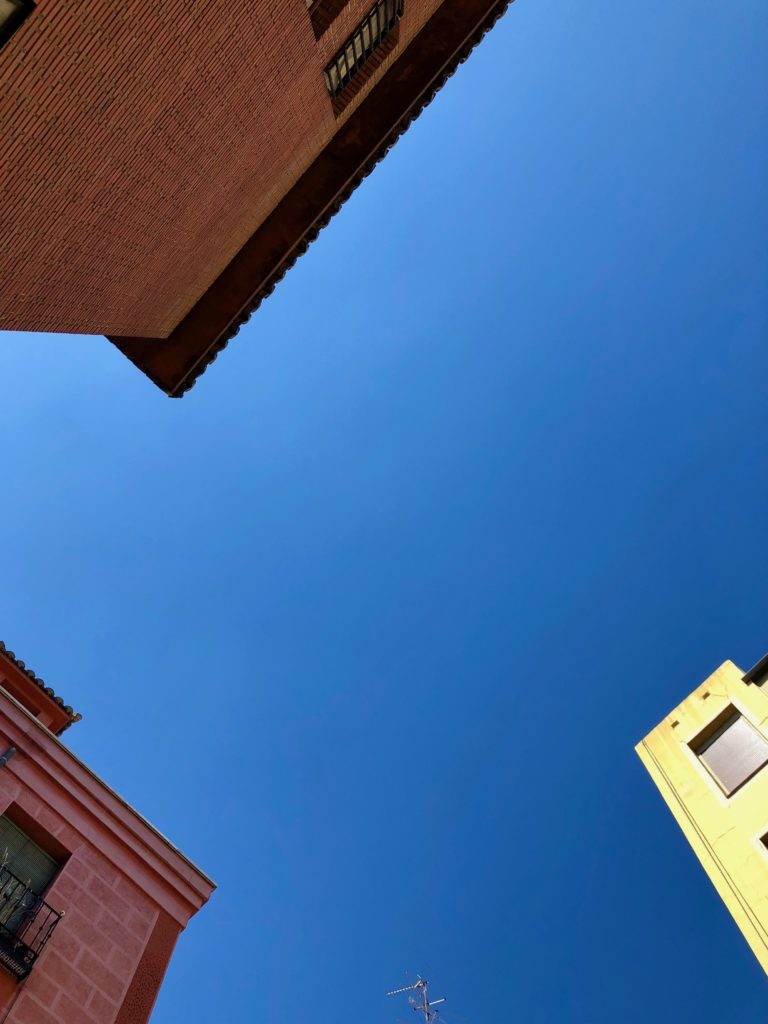 Looking skyward in Chueca