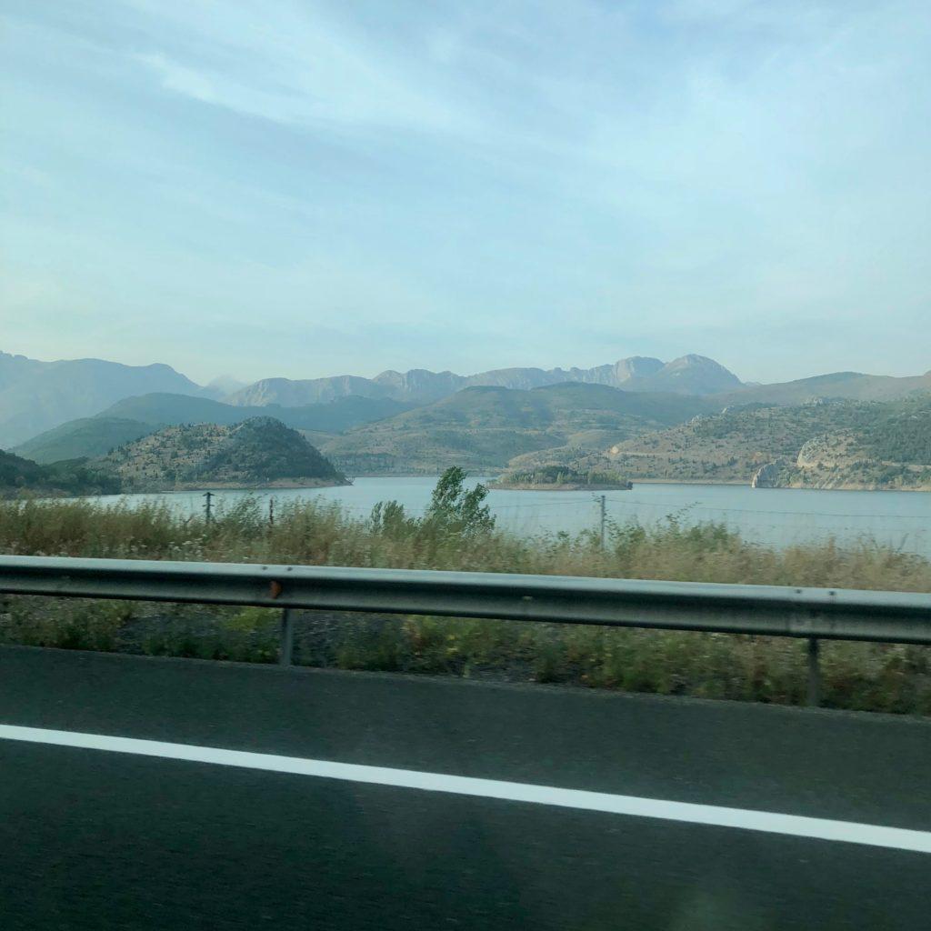 The mountain range before Asturias
