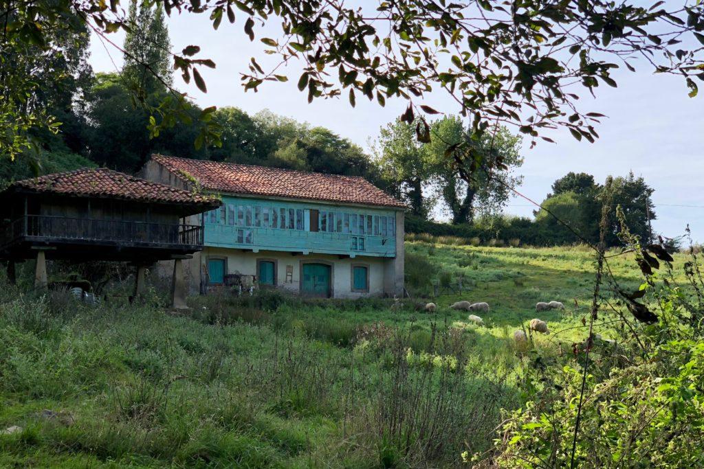 An Asturian hórreo and farm