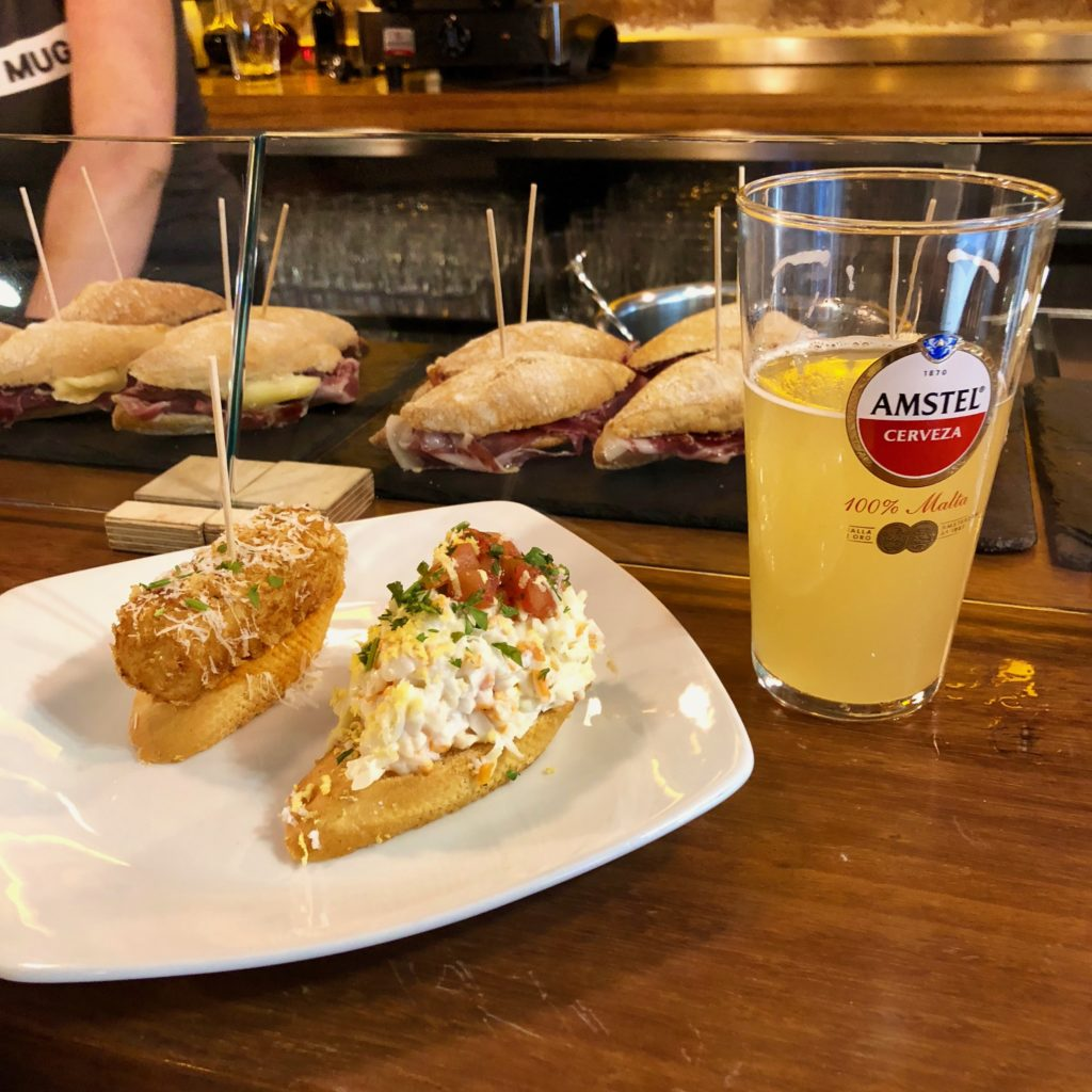 Pintxos and a beer