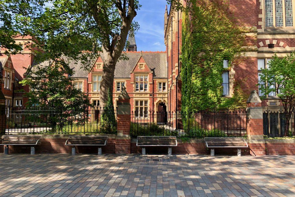 Leeds University looking resplendent in the sun