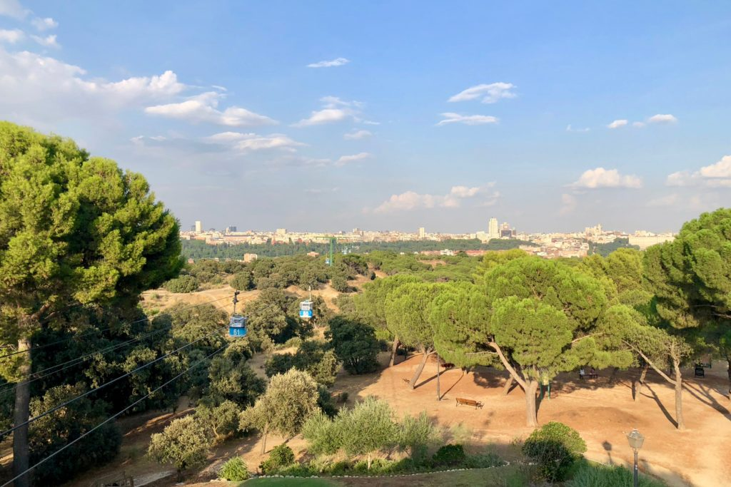 Looking back on Madrid from Casa de Campo
