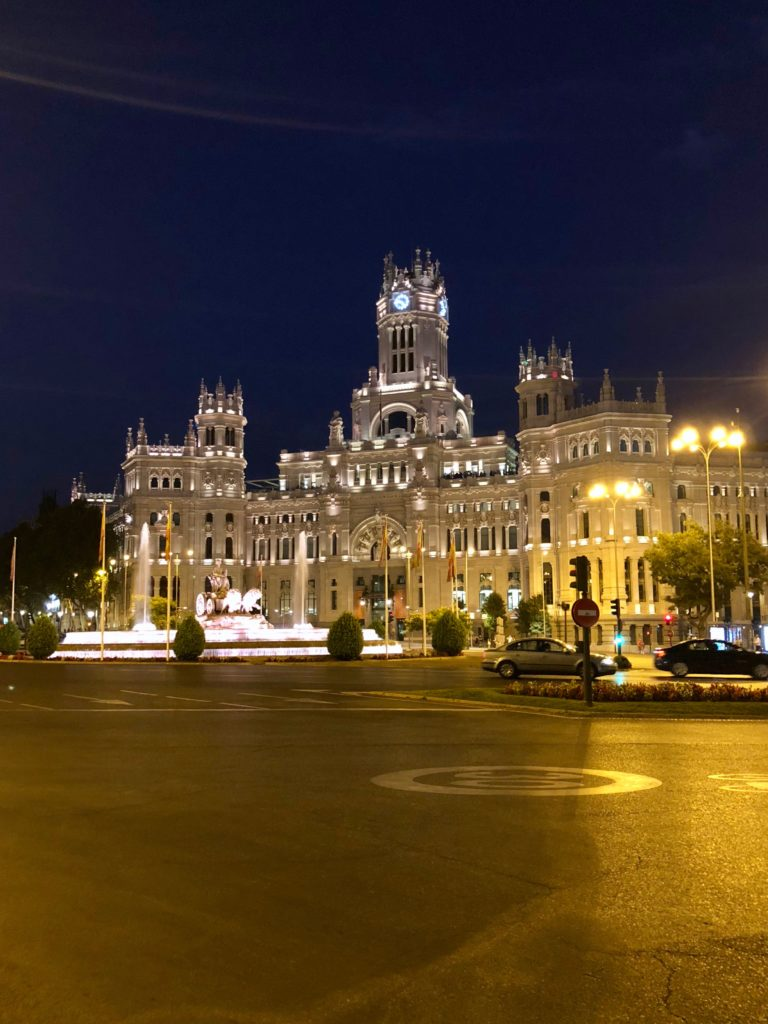 Wandering past Cibeles at night