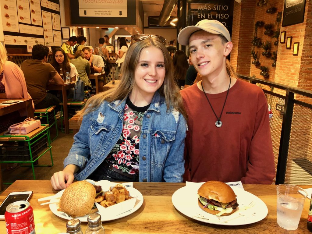 Ellie and Johann at Bacoa