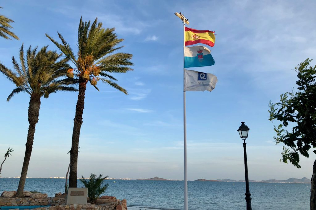 Looking out into the Mar Menor