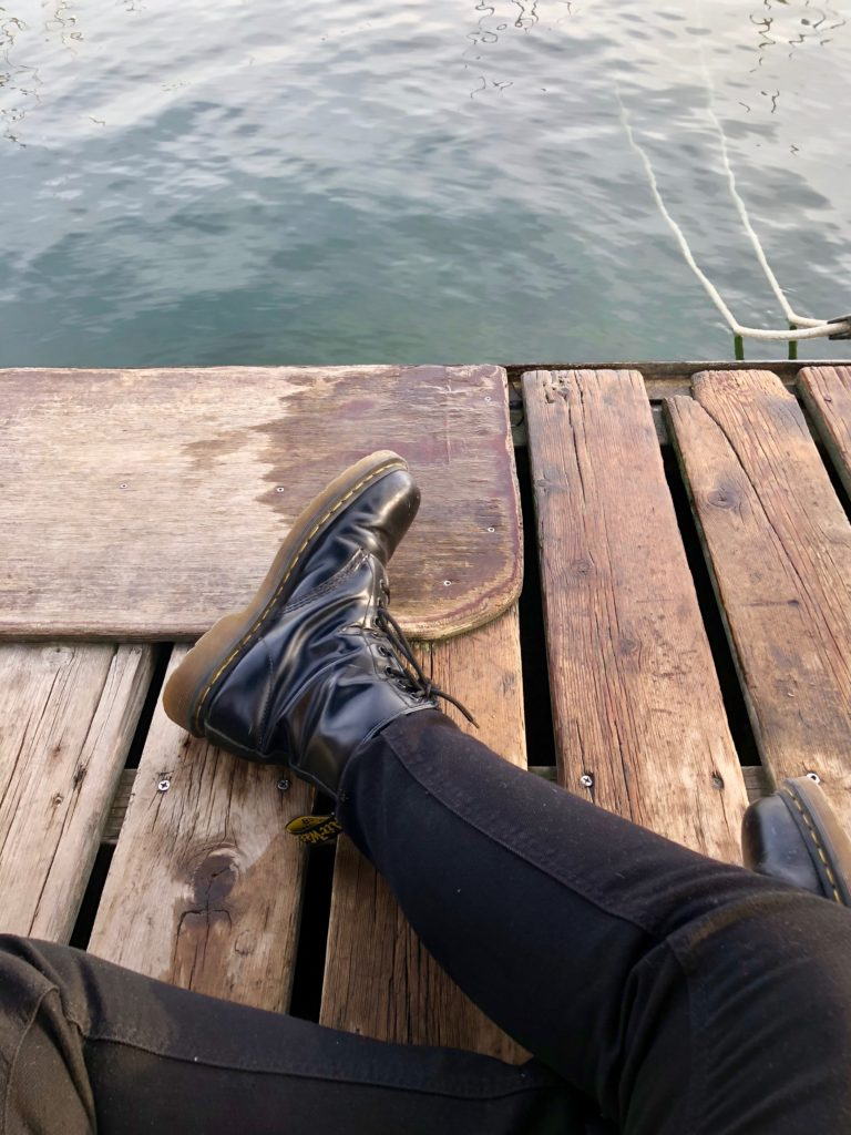 Waiting on the dock