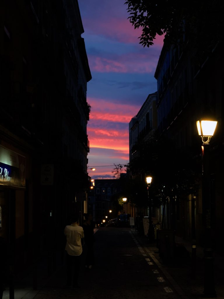 A gorgeous sky down the road