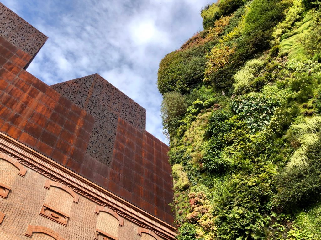 The vertical garden outside Caixa Forum