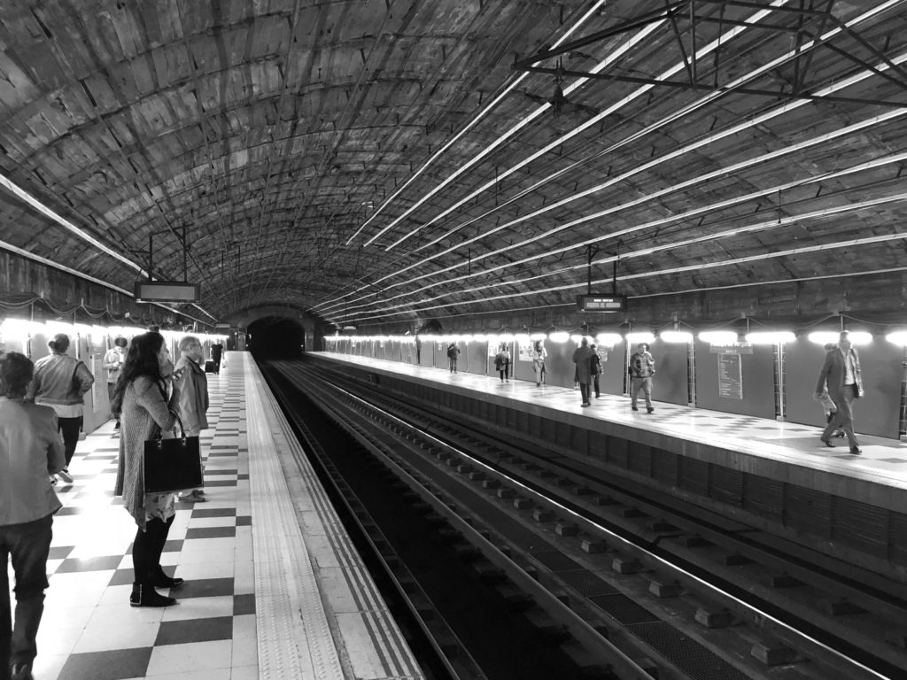 A Metro station stripped bare