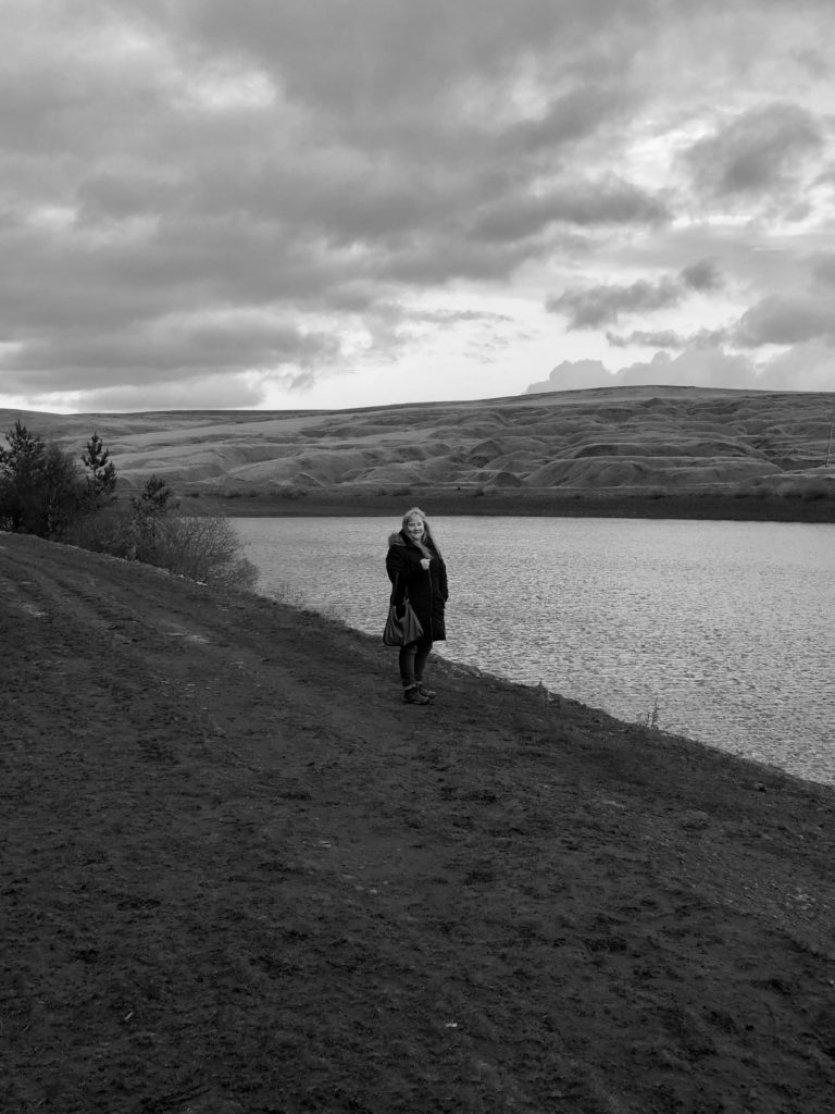 Mum up by the reservoir
