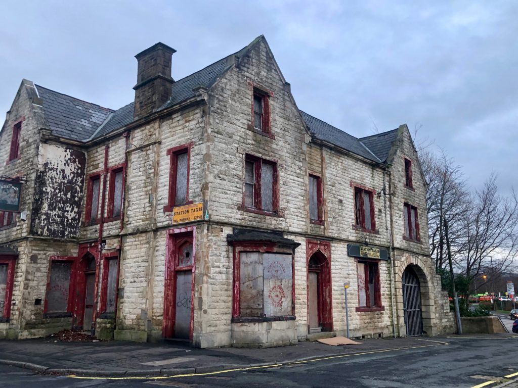 An abandoned building in Burnley