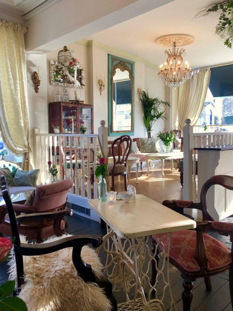 A Victorian style British home interior.
