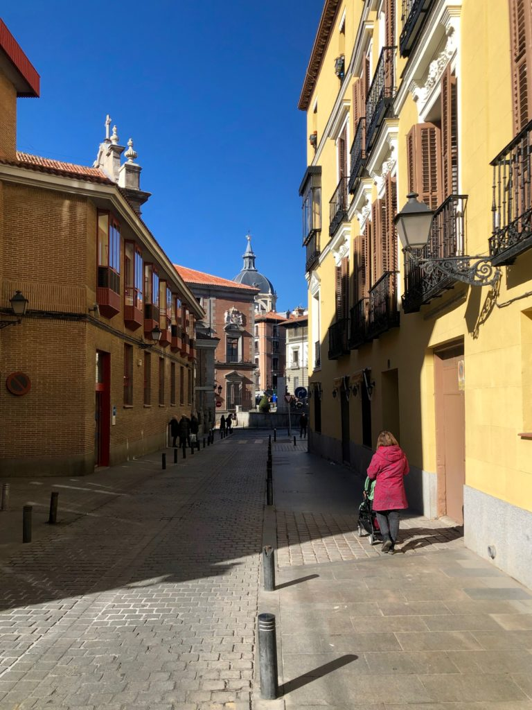 A street in the old centre of Madrid.