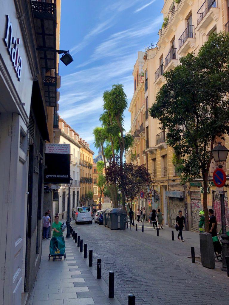 Looking down a street in Malasaña.