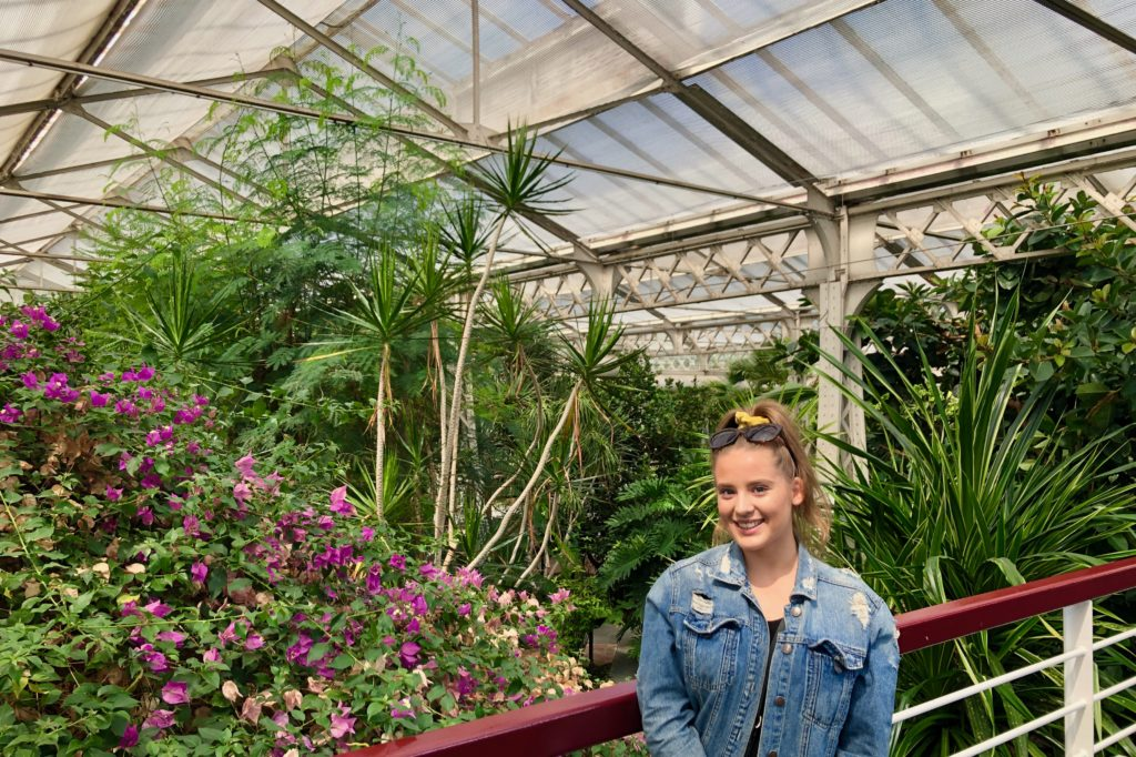 Ellie in the Madrid City Greenhouse.
