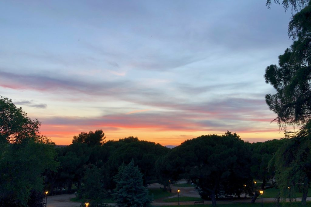 Another Madrid sun set, this time seen from the Debod Temple.