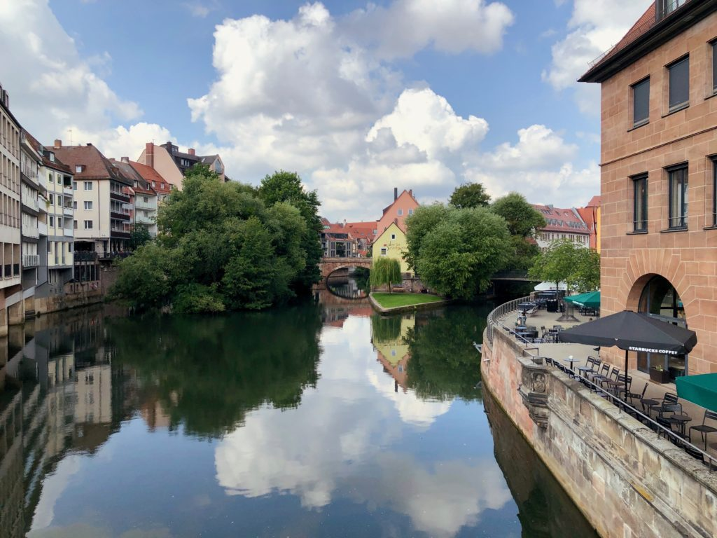 Looking over the water in Nuremberg.