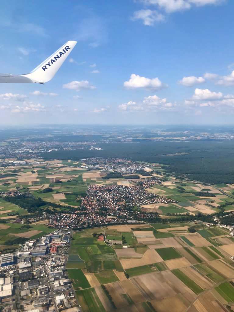 The view over Germany as the plane takes off.