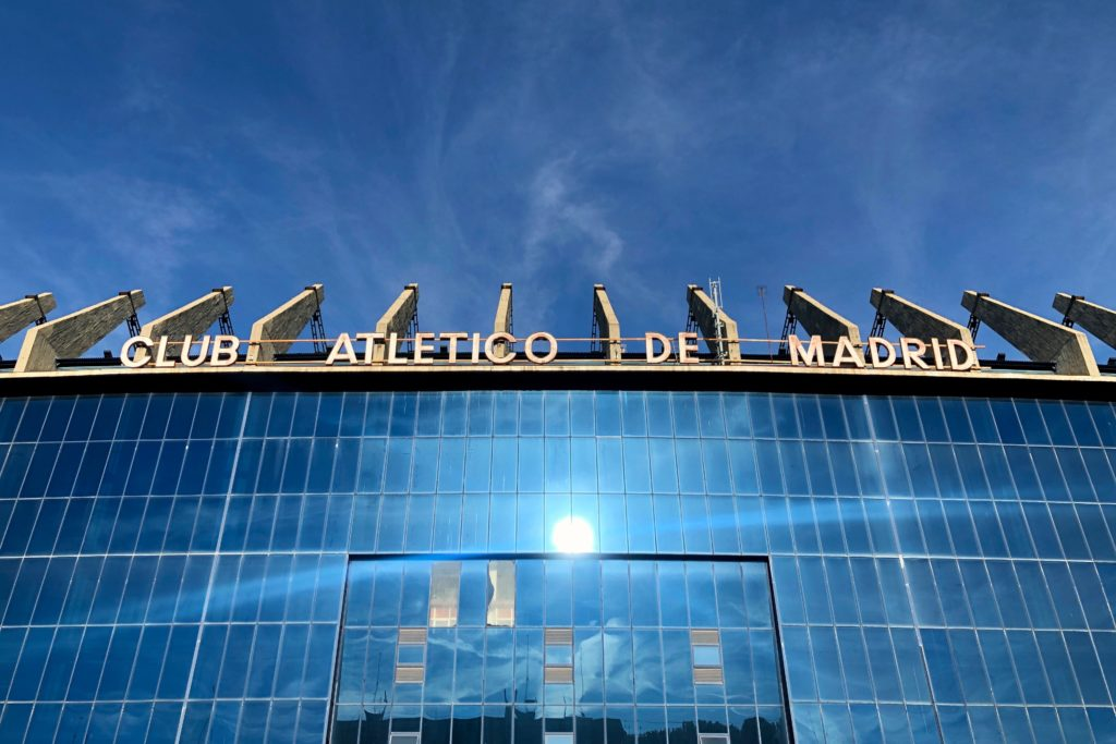 A stand of the abandoned Atlético de Madrid stadium.