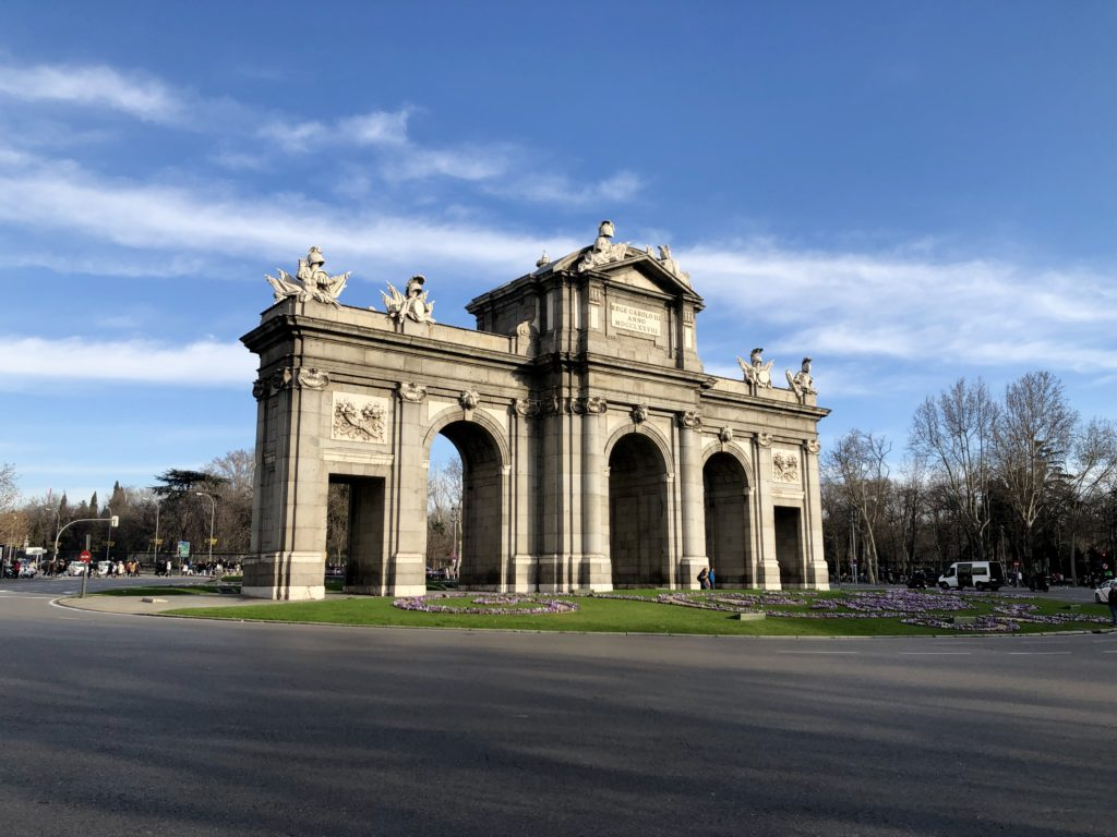 The Puerta de Alcalá, a gateway in Madrid.